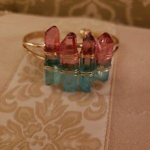 Jewelry - Quartz crystal cuff bracelet